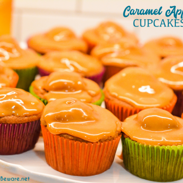 Caramel Apple Cupcakes recipe is a semi-homemade cupcake that combines a spice cake mix with fresh apple and a caramel topping for the cake version of caramel apple.