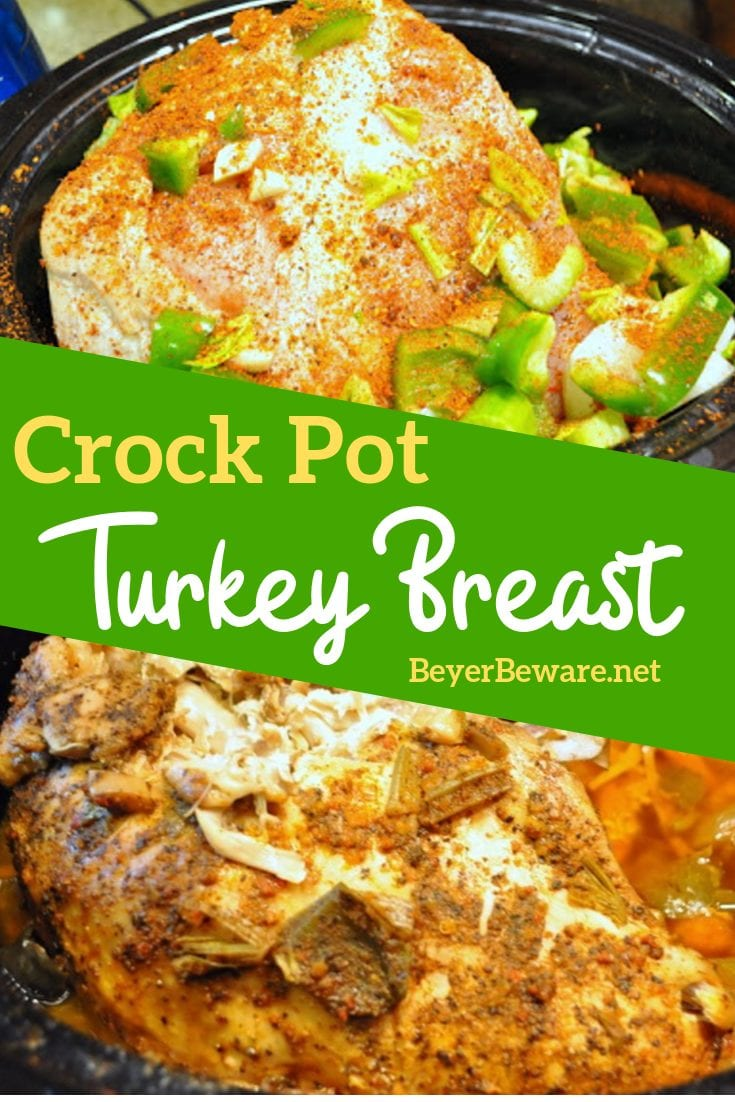 Crock pot turkey breast recipe is a great alternative to making a whole turkey or chicken, especially if you are trying to save oven space.