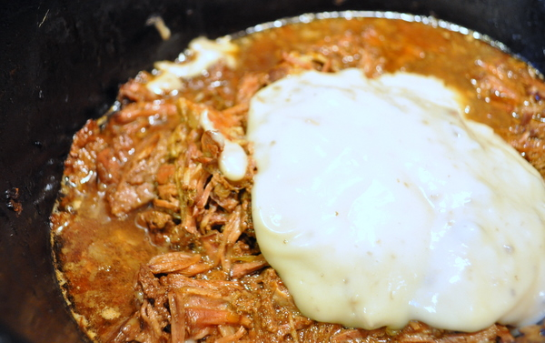 shredded beef crock pot