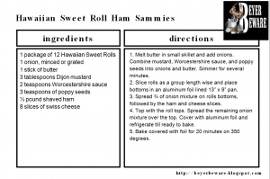Hawaiian Sweet Roll Ham Sammie Recipe
