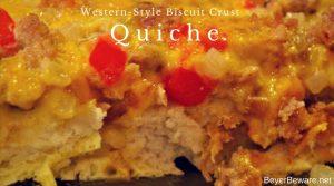 Western-Style Biscuit Crust Quiche