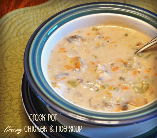 Easy creamy chicken and wild rice soup