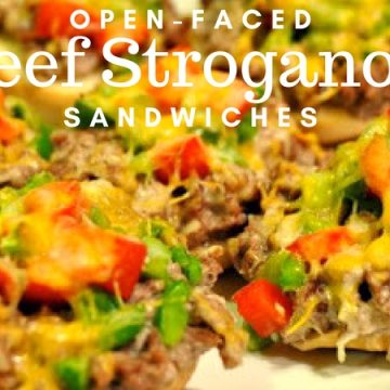 The flavors of beef stroganoff don't have to be just enjoyed over noodles. Open-face beef stroganoff sandwiches are perfect for a weeknight meal on-the-go.