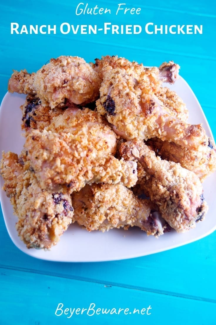 The secret to always being devoured chicken recipes, oven fried ranch chicken uses mayonnaise, ranch seasoning and Rice Krispies to form juicy, crunch ranch oven fried chicken. #chicken #FriedChicken #OvenBaked