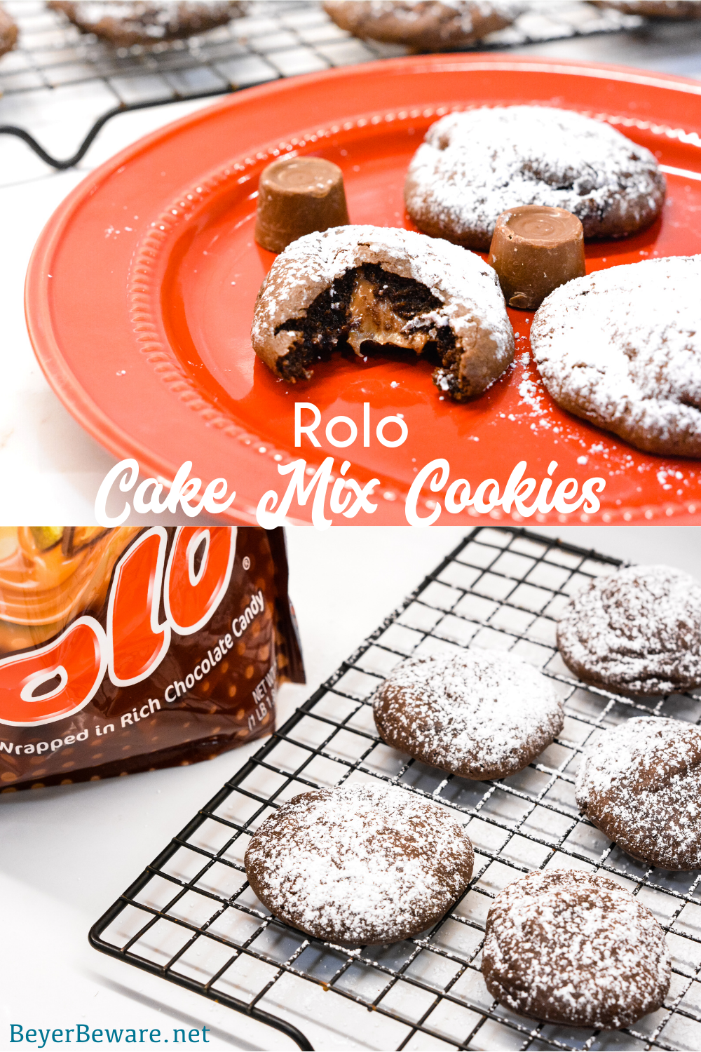 Rolo Cake Mix Cookies by Beyer Beware - WEEKEND POTLUCK 459
