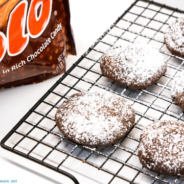 Rolo cake mix cookies are a simple cake mix cookie recipe with a caramel center from a Rolo candy made with just 4 ingredients.