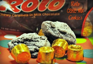 Rolo cake mix cookies are so easy to make and a recipe the kids can help with too.
