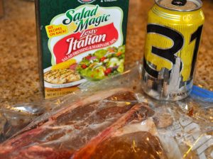 Beer Marinade ingredients for steak
