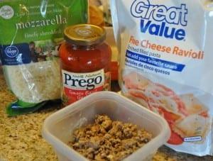 Ravioli lasagna ingredients