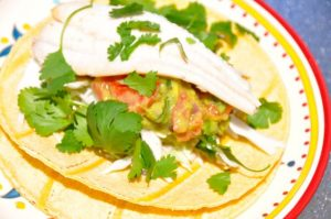 Grilled Fish Tacos with Guacamole
