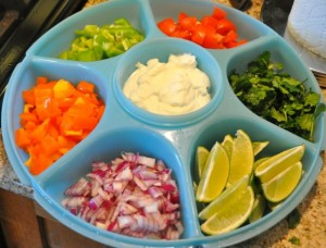 taco bowl toppings