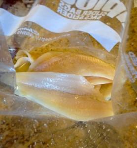 fish and lemon juice