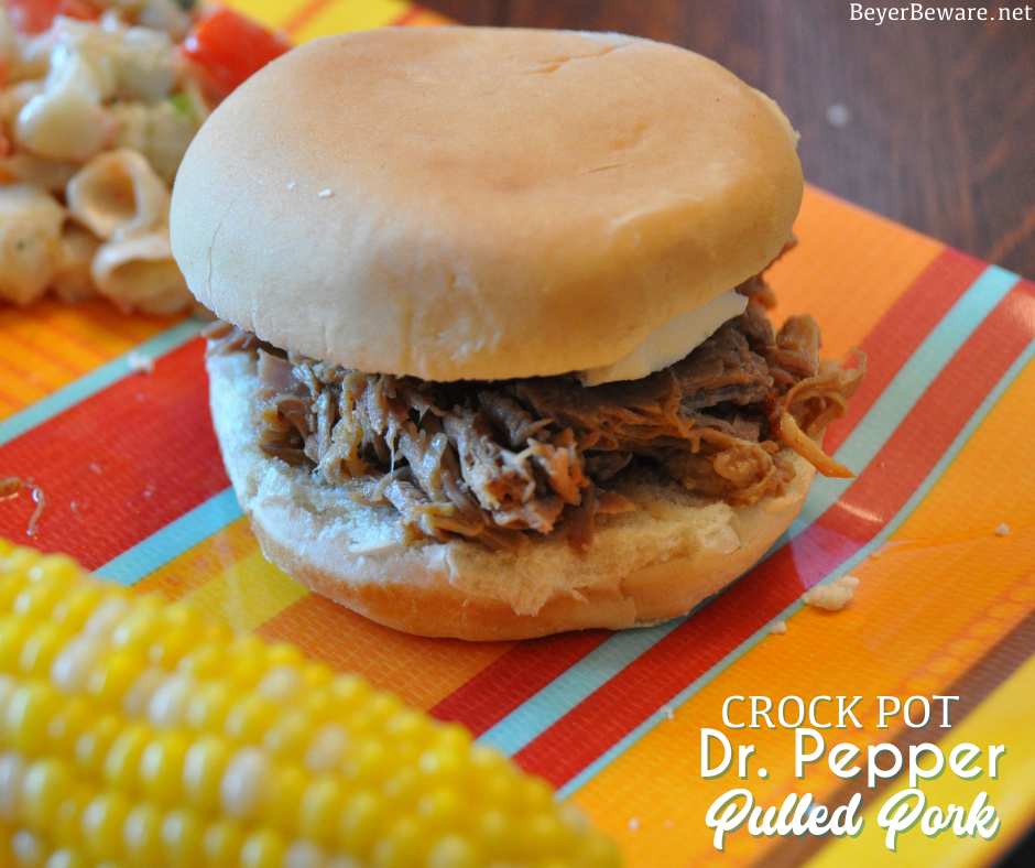 Crock Pot Dr. Pepper Pulled Pork is a sweet and spicy pulled pork recipe made with Dr. Pepper and chipotle peppers in adobo sauce to give this pulled pork a flavorful combo of heat and sweet.