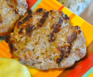grilled pork burger