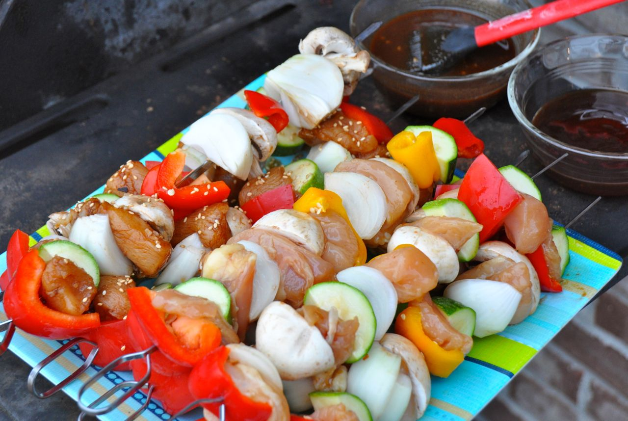 Spicy Asian Chicken Kabobs
