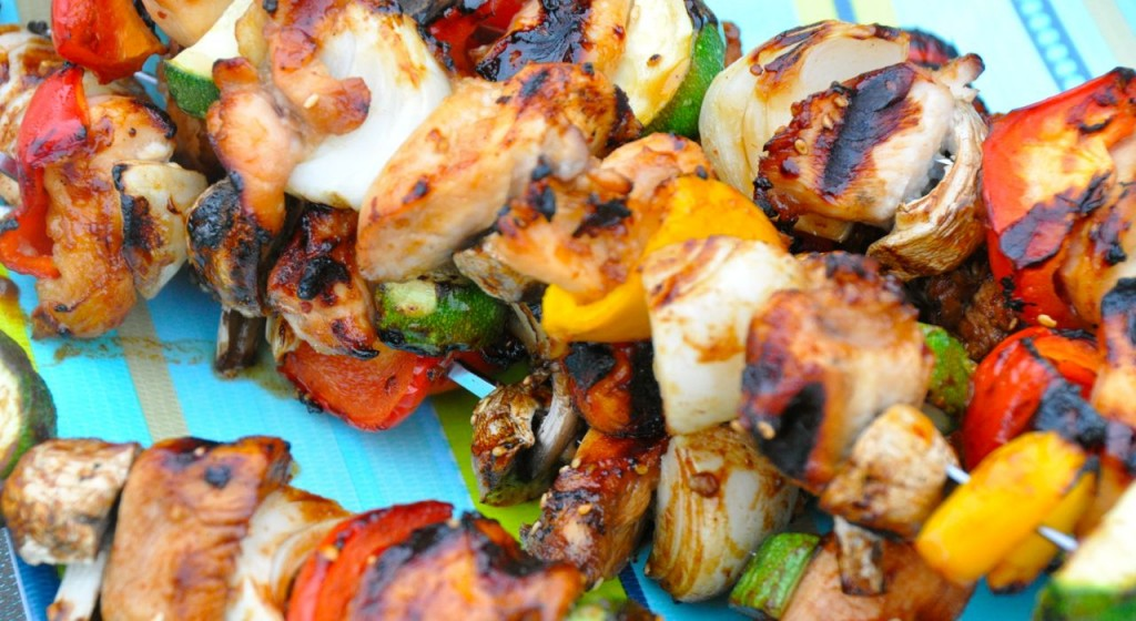 Grilled Asian Chicken Kabobs