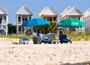 rented loungers from SGI beach chairs