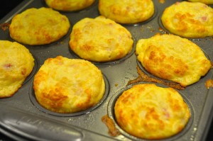 baked egg ham and cheese muffins
