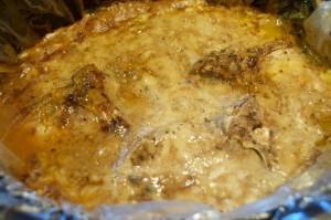cooked pork chops in crock pot