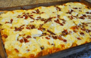 Hunk of Meat Monday: Cheese and Bacon Pizza