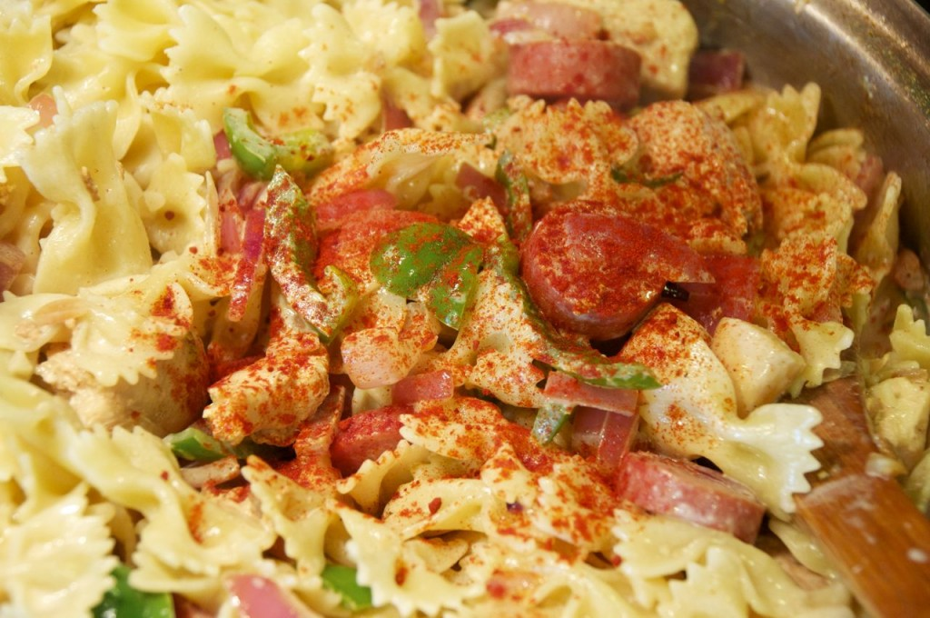 cajun seasoning on pasta
