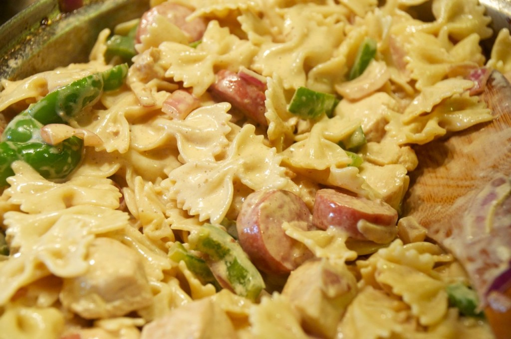 cajun chicken sausage pasta