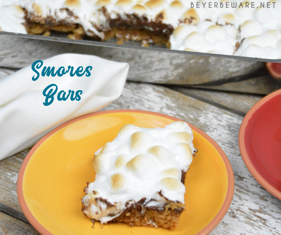 S'mores bars are an easy fall baked treat for the the marshmallow, chocolate, and graham cracker lovers.