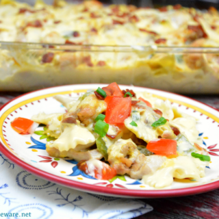 Chicken bacon ranch pizza casserole recipe is a hearty casserole that is perfect for chilly evenings or sports team dinners. Everyone will love it and come back for seconds.