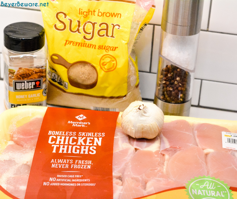 Garlic brown sugar chicken is a simple oven-baked chicken recipe, full of flavor with less than 5 ingredients and can be on the table in 30 minutes.