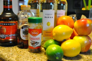 Honey Crisp Apple Sangria Ingredients