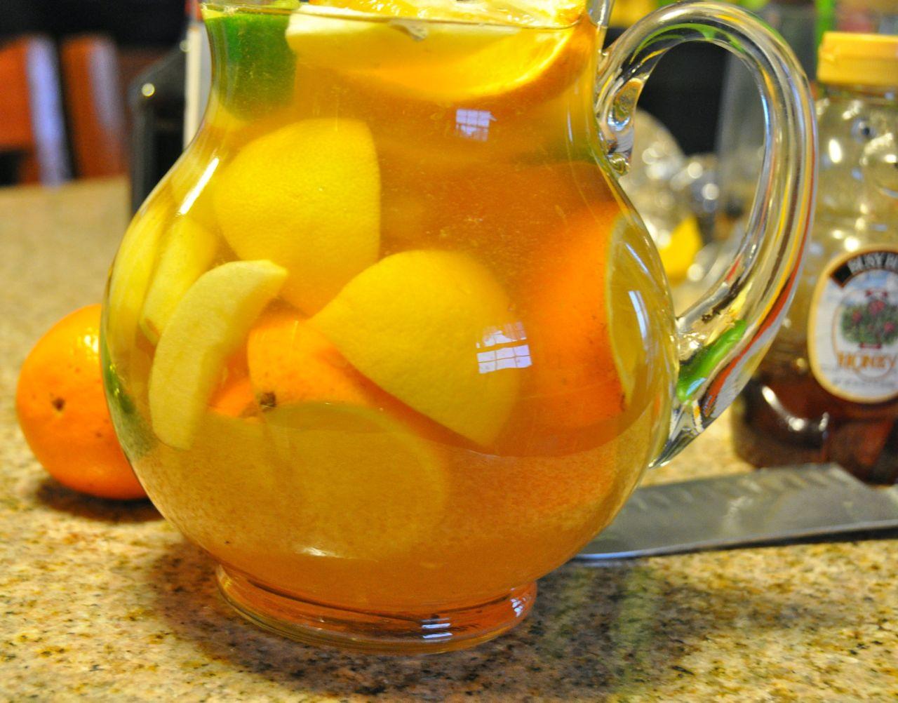 Pitcher of Honey Crisp Apple Sangria