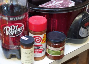 Dr. Pepper Beef ingredients