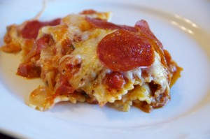 Hunk of Meat Monday: Pizza Casserole