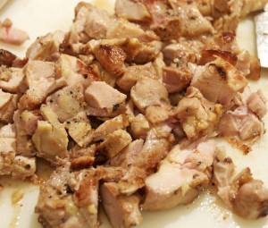 chopped chicken for milano casserole