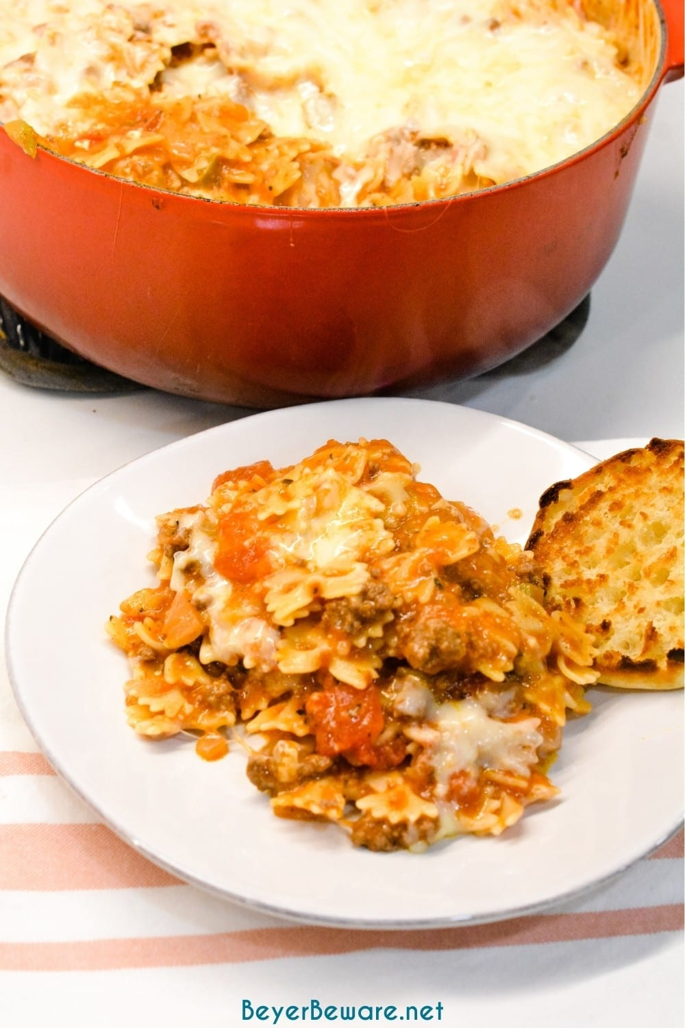 Speedy Skillet lasagna is a quick lasagna recipe with all the traditional flavors but will be on the table in less than 30 minutes to fill up your hungry family.