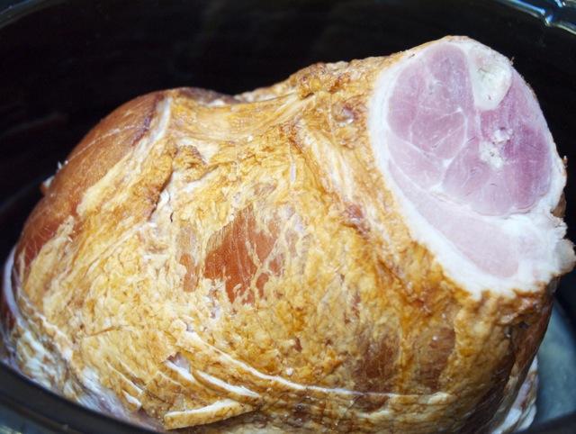 Spiral Cut Ham in the crock pot