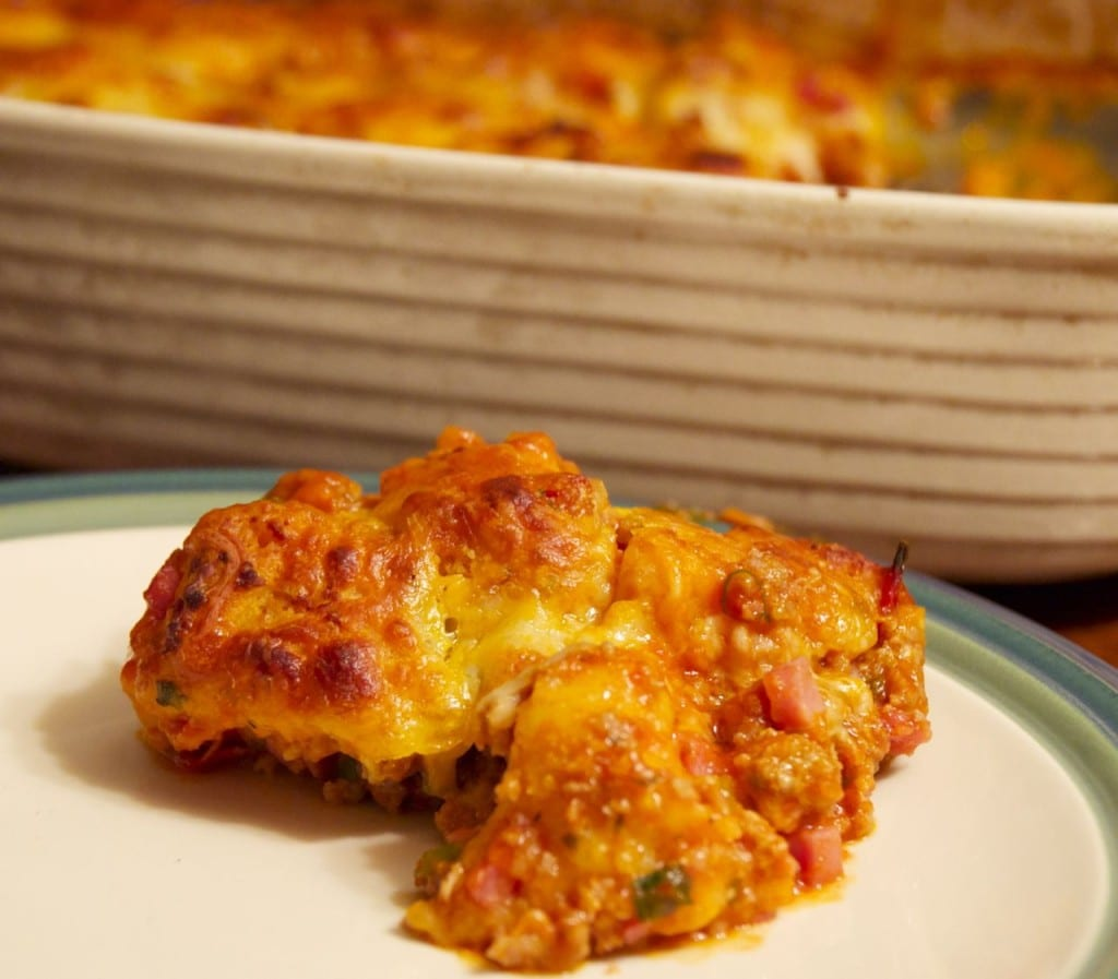 Bubble Pizza Casserole