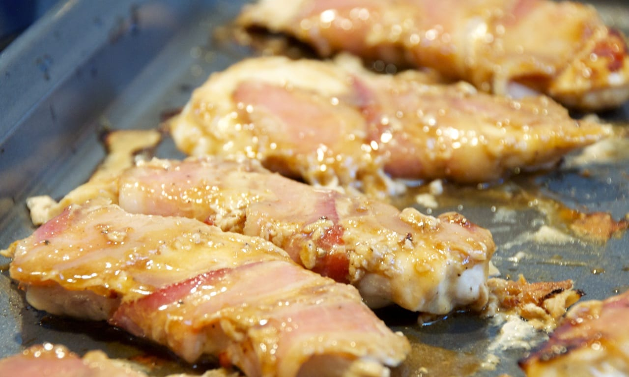Honey Mustard Bacon-Wrapped Chicken