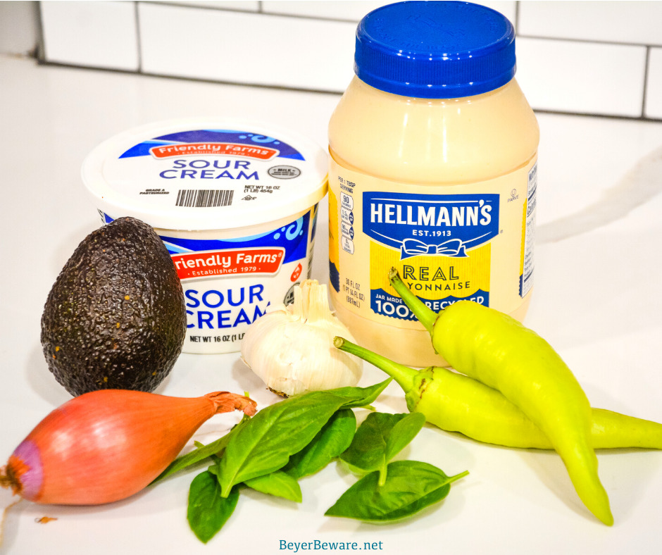 Avocado garlic aioli is a simple aioli made in the food processor with avocado, basil, mayonnaise, garlic, shallots, and lemon juice.
