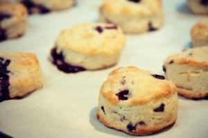baked blueberry scones