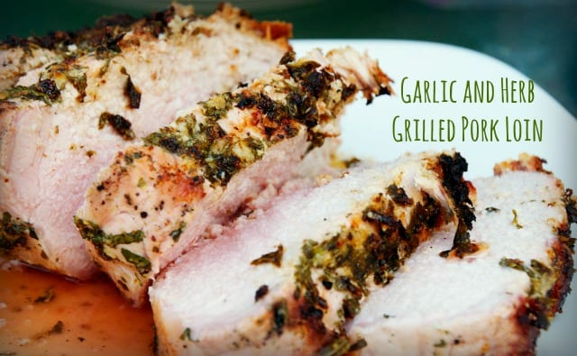 garlic and herb sliced pork loin