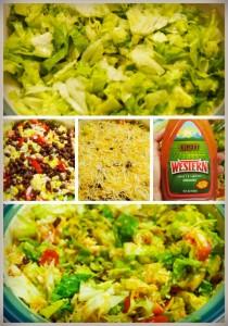 taco salad - lettuce base