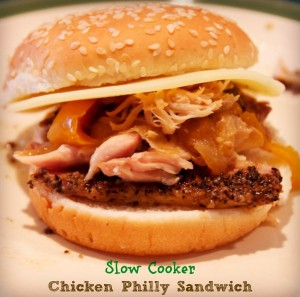Hunk of Meat Monday: Crock Pot Chicken Philly Sandwiches