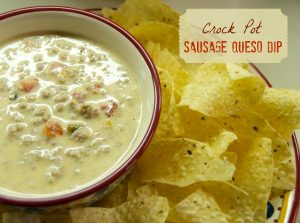 Hunk of Meat Monday: Crock Pot Sausage Queso Dip