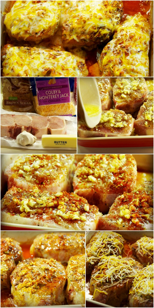 brown sugar garlic cheese pork chops