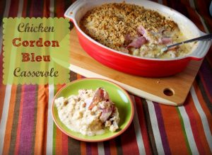 Low-Carb Chicken Cordon Bleu Casserole