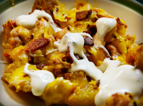 Buffalo Chicken and Potatoes with ranch