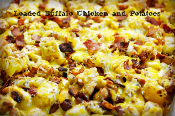 Loaded Buffalo Chicken and Potatoes