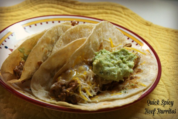 Quick Spicy Beef Burritos