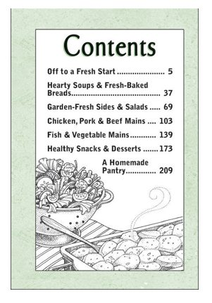 Good-For-You Everyday Meals table of content